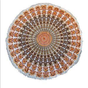 Orange Boho Tapestry